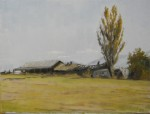 Southern Oregon Farm, Plein Air Oil Painting by Sarah F Burns