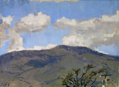 Grizz from Weisingers, Oregon, Plein Air Oil Painting by Sarah F Burns