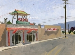 Kim's Medford, Plein Air Oil Painting by Sarah F Burns