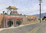 Kim's Medford, Plein Air Oil Painting by Sarah F Burns