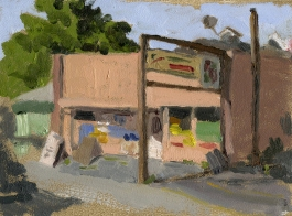 La Tapatia, Phoenix, Oregon, Plein Air Oil Painting by Sarah F Burns SOLD