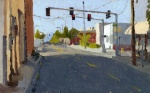 Medford Street 2011 Plein air oil painting by Sarah F Burns