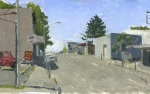 Roseburg Oregon, Plein Air Oil Painting by Sarah F Burns