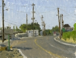 Sign, Phoenix, Oregon, Plein Air Oil Painting by Sarah F Burns