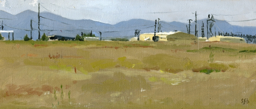 White City Dixon Steel and Substation, Plein Air Oil Painting by Sarah F Burns