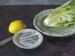 Caeser Salad Oil Painting for Smithfields Ashland by Sarah F Burns