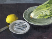 Caesar Salad Oil Painting for Smithfields Ashland by Sarah F Burns
