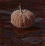 dusty maroon squash Fresh Produce Pinup Oil Painting by Sarah F Burns