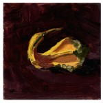 Honey's bird gourd Fresh Produce Pinup Oil Painting by Sarah F Burns