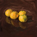 Satsumas Fresh Produce Pinup Oil Painting by Sarah F Burns