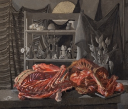 Bear Skeleton Smithfields Vanitas Oil Painting by Sarah F Burns