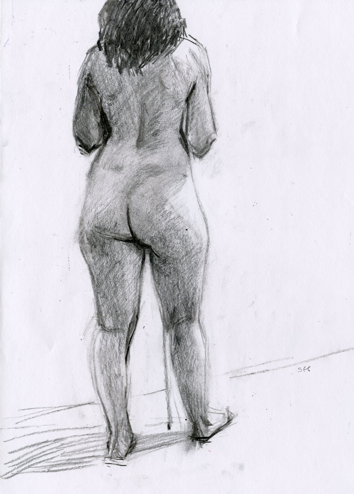 Beth figure drawing by Sarah F Burns