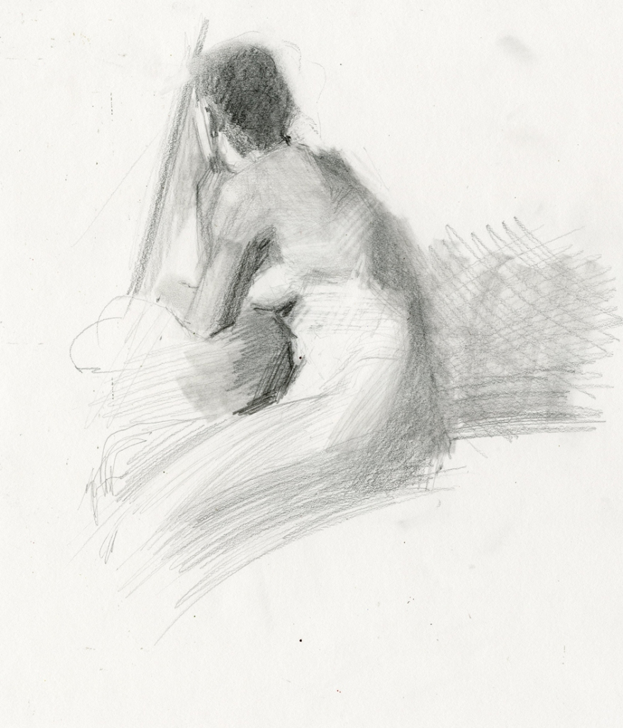 Xyara Figure drawing by Sarah F Burns