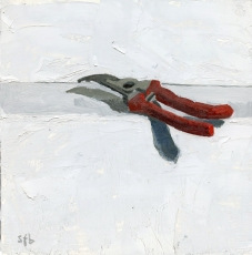 "Proserpina: Implements of Summer: Punish the Earth, oil on panel, 12"" x 12"" by Sarah F Burns $350"