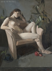 """Proserpina'"" Oil on Panel, 32"" x 44"" by Sarah F Burns $3000"