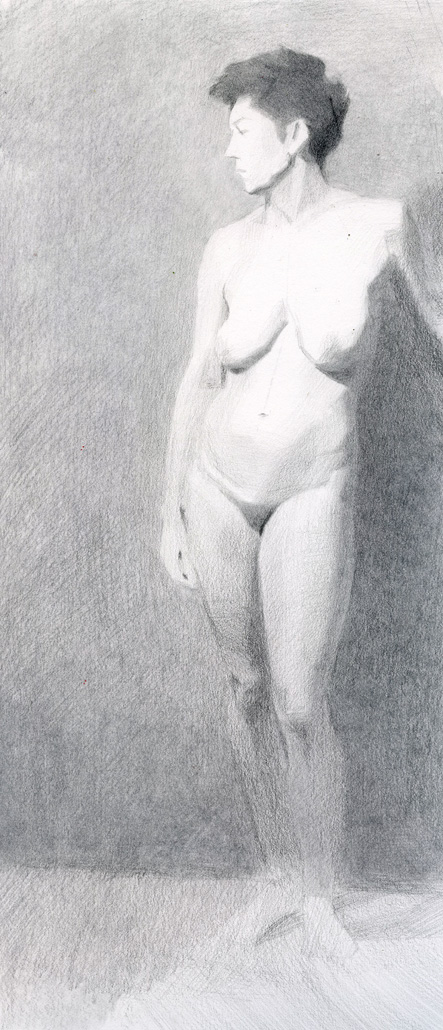 """Shalyn"" Graphite Drawing by Sarah F Burns"