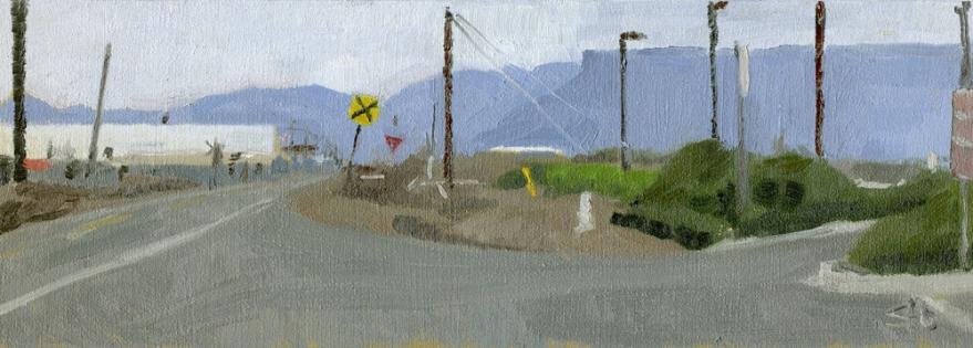 "Oil on Panel, 5"" x 14"". $160"