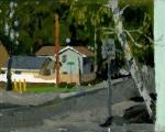 First St, Phoenix, Oregon, Plein Air Oil Painting by Sarah F Burns