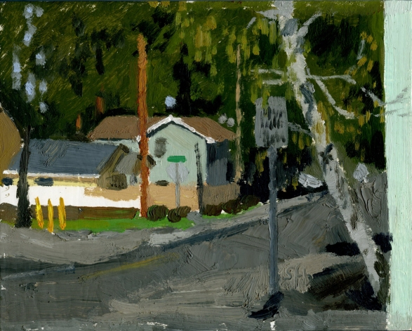 First St, Phoenix, Oregon, Plein Air Oil Painting by Sarah F Burns