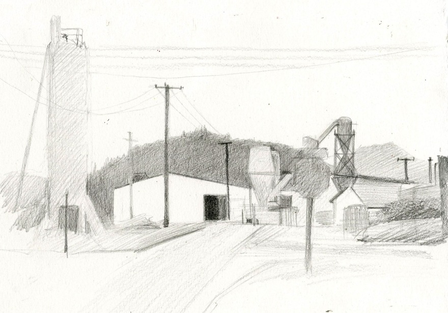 "White City Sketch Graphite on Paper 7"" x 11"" $60"
