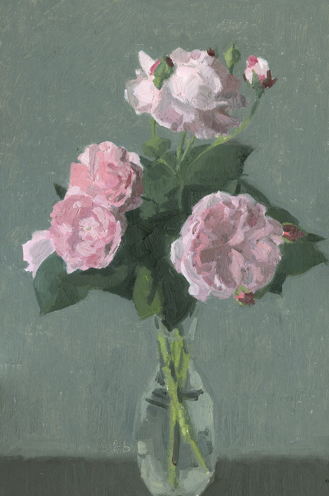 Fantin Latour Roses, Oil Painting by Sarah F Burns