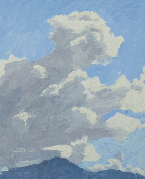 Thunder Clouds, Oil Painting by Sarah F Burns