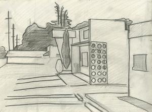 Ephemera Building Drawing