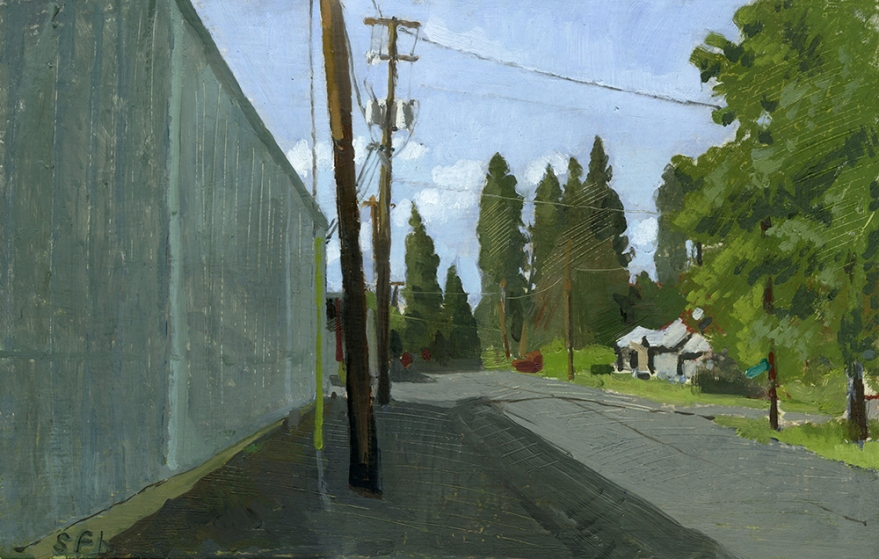 "C St. Phoenix, OR Oil on Panel  13"" x 21"""