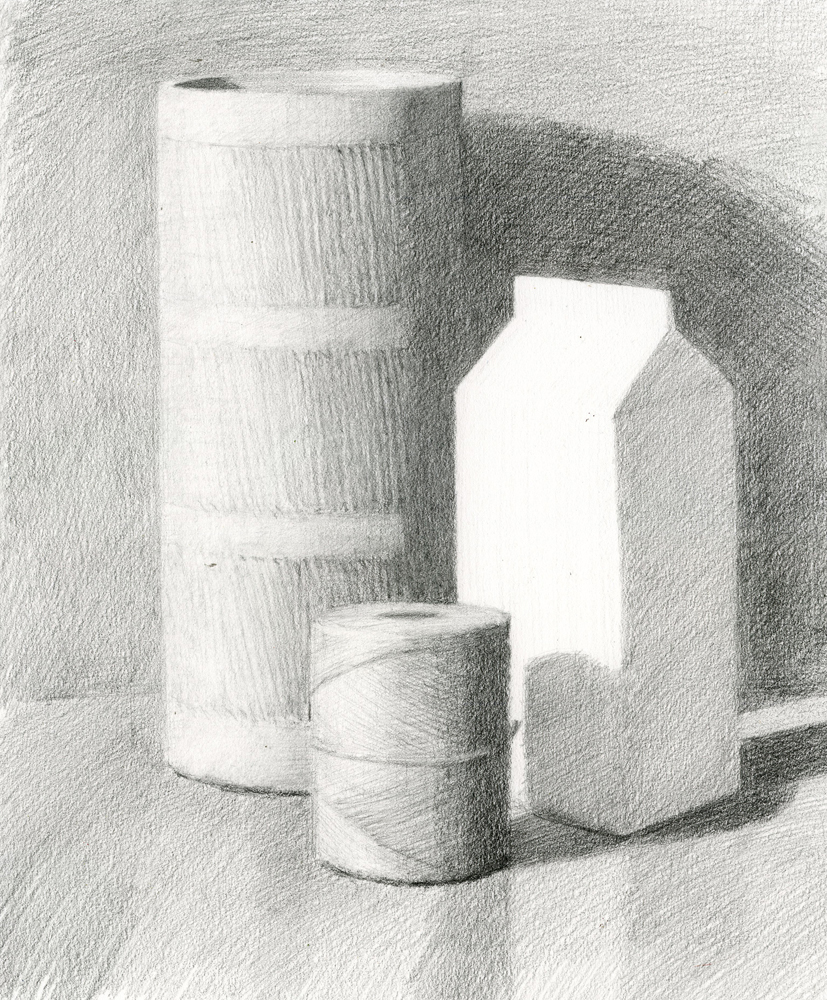 Cylinder and Carton Demo Drawing