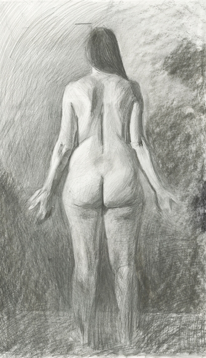 Posterior Female Drawing Study