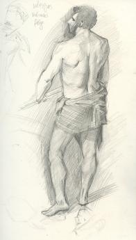 Sketch after Velasquez - show at Grand Palais, Paris