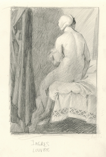 Drawing After Ingres - Louvre