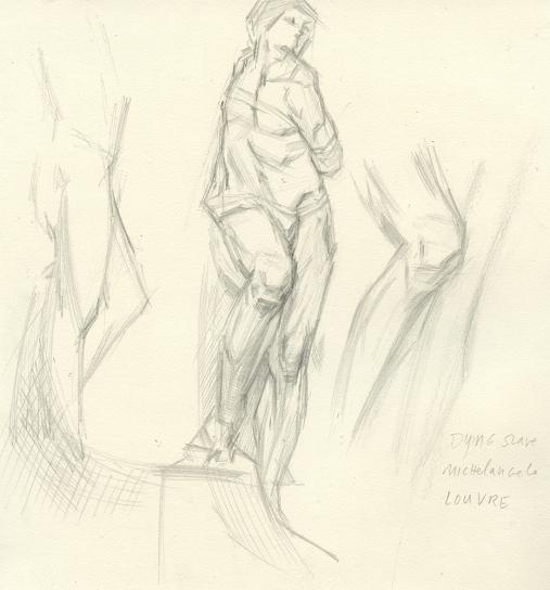 After Dying Slave Sculpture - Michelangelo - Louvre