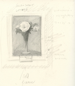 Sketch after Fantin Latour - Louvre