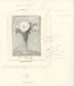 Sketch after Fantin Latour - Louvre