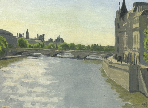Morning on the Seine from Pont Neuf
