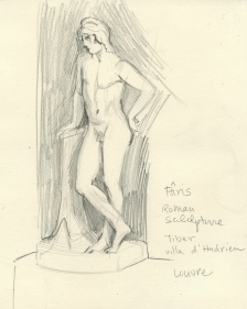 Sketch after Paris Statue - Louvre