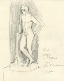 Sketch after Paris Statue - Louvre