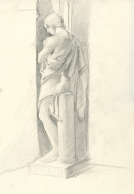 Drawing of Phideas Sculpture - Louvre
