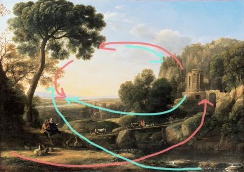 claude lorrain pastoral landscape spiral