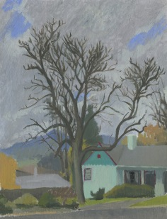 Neighbor's Tree in Early Winter