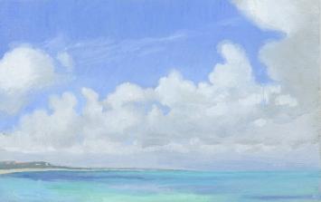 Cumulus Clouds Grace Bay Beach