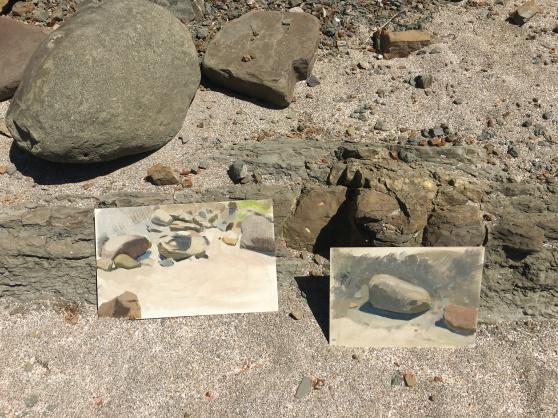 Rock Paintings on Beach