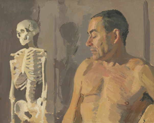 Untitled Figure with Skeleton