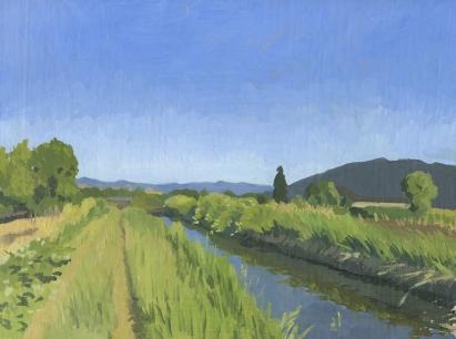 Landscape Painting by Sarah F Burns